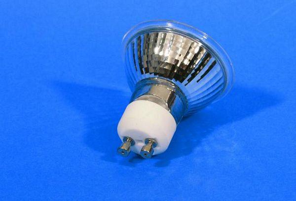 OMNILUX GU-10 230V/35W 1500h 25° blue, sininen polttimo, Laadukas yleisvalaistus lamppu.