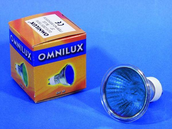 OMNILUX GU-10 230V/50W 1500h 25° blue, , discoland.fi