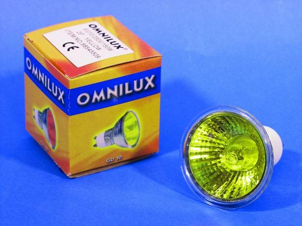 OMNILUX GU-10 230V/50W 1500h 25° yellow, discoland.fi