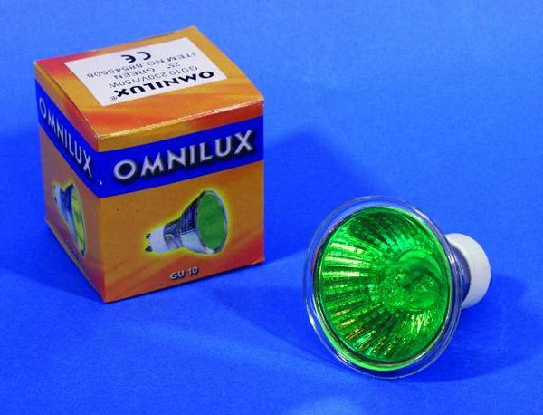 OMNILUX GU-10 230V/75W 1500h 25° green, discoland.fi