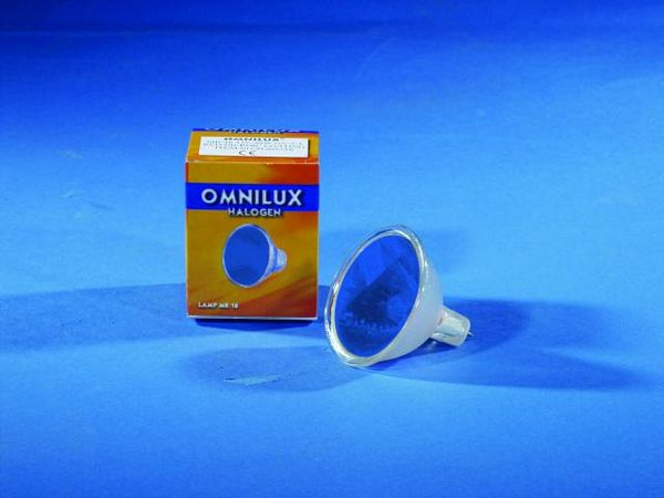 OMNILUX MR-16 12V/50W GX-5.3 SP 12° blue