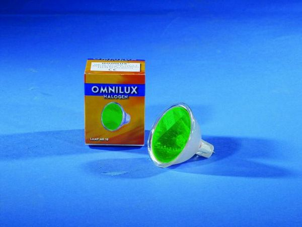 OMNILUX MR-16 12V/35W GX-5.3 SP 12° green