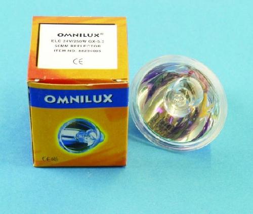 OMNILUX ELC 24V/250W GX-5,3 50h 50mm ref, discoland.fi