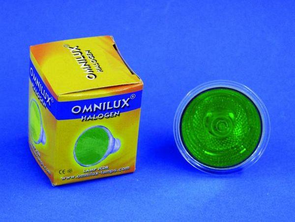 OMNILUX JCDR 230V/35W GX-5.3 1500h green, discoland.fi
