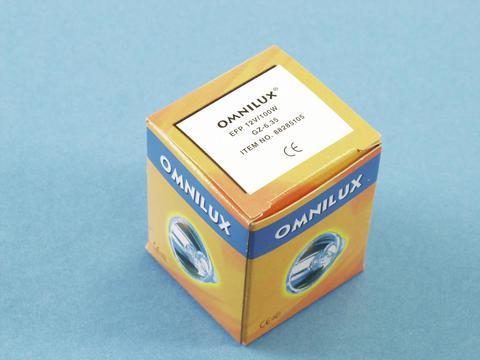 OMNILUX EFP 12V/100W GZ-6.35 500h polttimo yleisimpiin valoefekteihin.