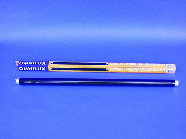 OMNILUX UV mustavalo polttimo 18W G13 60, discoland.fi