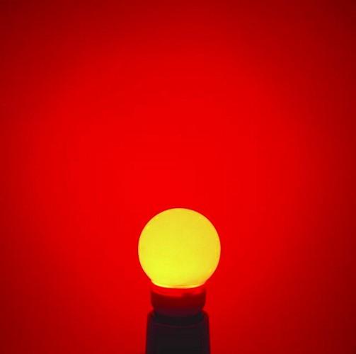 OMNILUX LED globe 50mm red E27