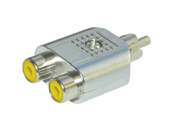 OMNITRONIC Adapter 2 RCA sockets/1 RCA p, discoland.fi