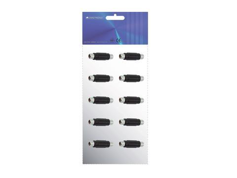 OMNITRONIC Adapteri RCA-naaras-RCA-naaras jatkokappale, mono