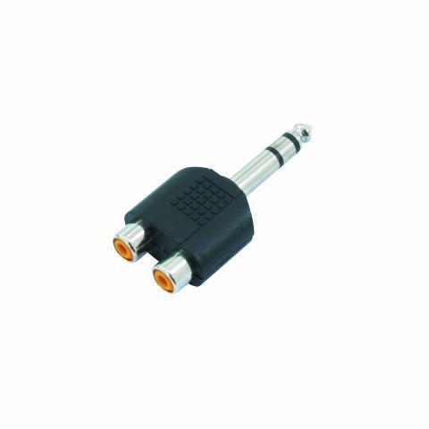 OMNITRONIC Adapteri 2x RCA-naaras - 1 Ja, discoland.fi