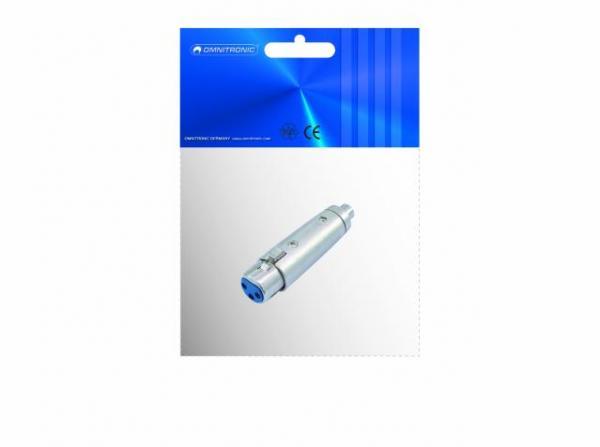 OMNITRONIC XLR naaras-RCA naaras adapteri liitin, Adapter RCA female to XLR female