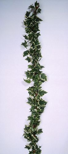 DECO tuote loppu.. 180cm Ivy Garland green/white wrapped Bast