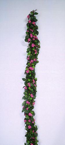 EUROPALMS Loppu!!180cm Rose garland pink, discoland.fi