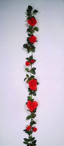 EUROPALMS 190cm Rose Garland with big bl, discoland.fi