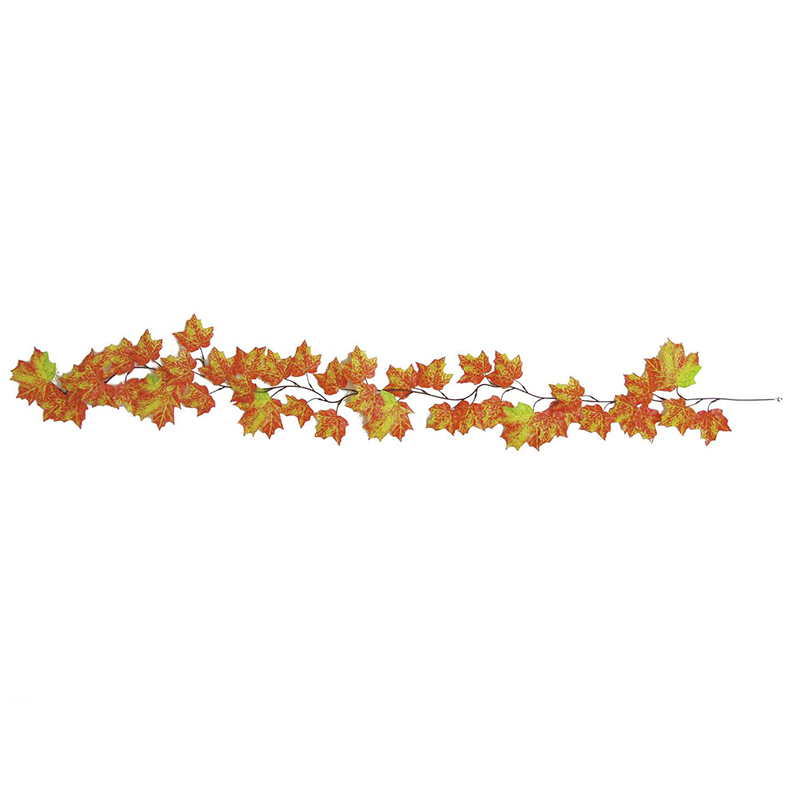 EUROPALMS 180cm Kanandanvaahteraköynnös. Canada Maple Garland, orange. Creates an autumnal atmosphere in your decoration. viileehinta