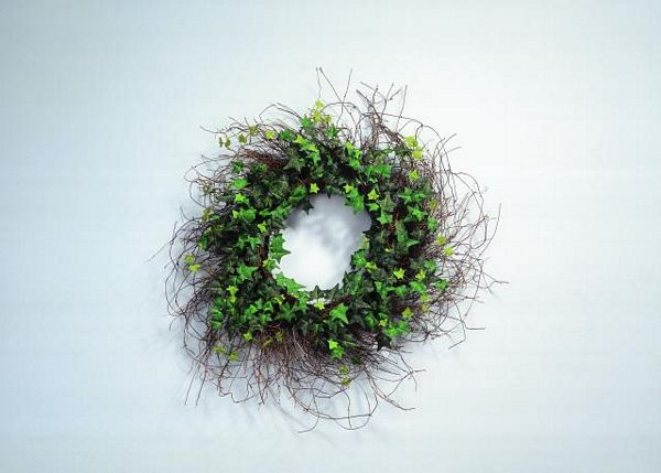 EUROPALMS Ivy wreath with brushwood 50cm, discoland.fi