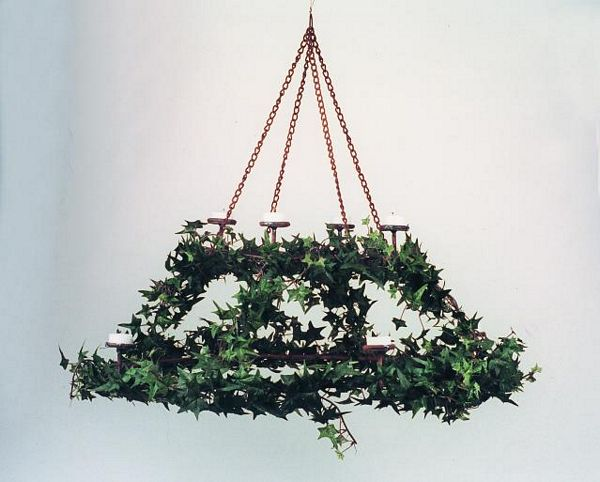 DECO 58cm Hanging Double Candle Stand Ivy