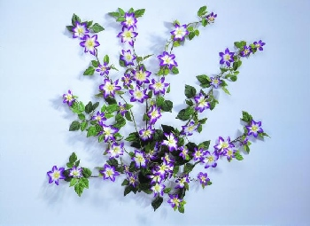 DECO Clematis Bush 665 leaves/ 42 flowers violett
