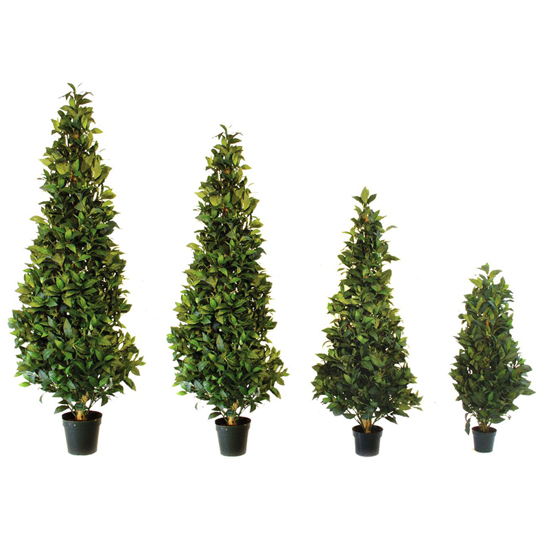 EUROPALMS 120cm Laakeripuu, mallia kartio. Laurel Cone Tree. Ideal for an unobtrusive and classy decoration