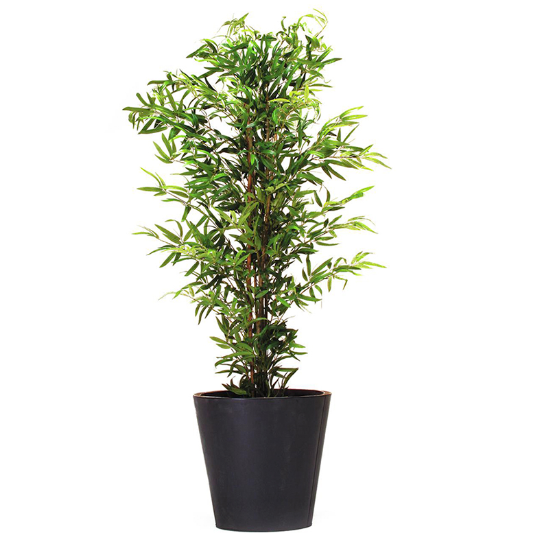 EUROPALMS 150cm Bambupuu aidoilla rungoilla. Bamboo Tree with natural trunk. Natural appearing, classy bamboo tree