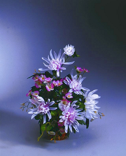 DECO POISTUNUT...TUOTE...30cm Dahlia bush pink with wooden pot