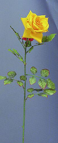 DECO 75cm Rose Ornella Yellow open rose,, discoland.fi