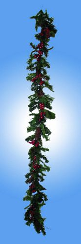 DECO 180cm Christmas garland with red be, discoland.fi