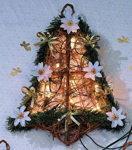 DECO 40x30cm Bell of Poinsettia white wi, discoland.fi
