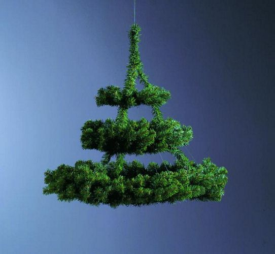 EUROPALMS 65 x 70cm Triple fir-wreath