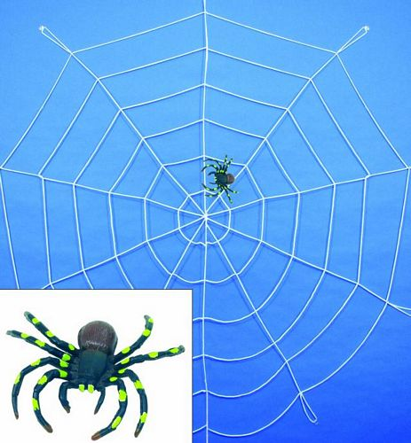 DECO Spider web nylon white with one big, discoland.fi