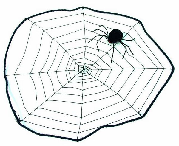 DECO Spider web small black w.one small , discoland.fi