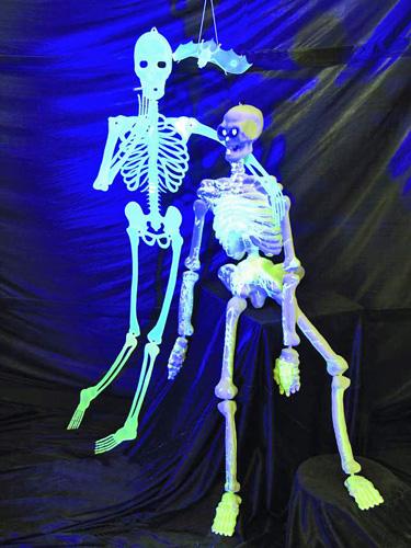 EUROPALMS LOPPU! Halloween Skeleton flat UV-Active 150cm