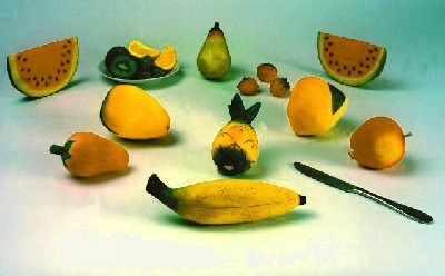 EUROPALMS Wooden yellow banana bunch XXL, discoland.fi