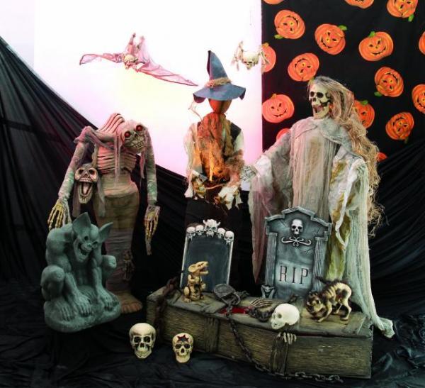 EUROPALMS Ruosteinen Halloween ketju, pituus 100cm.