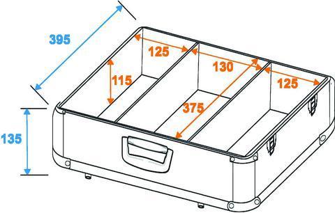 OMNITRONIC Kuljetuslaatikko CD-levyille 100kpl kiilloitettu alumiini. Suosituin malli tiskijukkien keskuudessa! Loistava ulkonäkö kiiltävällä alumiinipinnalla. Kestävä sekä näyttävä kokonaisuus. 100 kpl CD:lle koteloineen tai 300 kpl sleeves. Mitat 455 x 440 x 170 mm sekä paino 3,7kg.