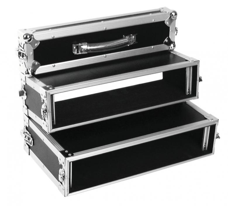 ROADINGER Salkkumallinen Tupla CD-soittimen kuljetuslaatikko, korkeus 2U soveltuu yleisimmille räkkiin asennettaville CD-soittimelle, erittäin käytännöllinen ja taittuu pieneen tilaan, ulkomitat 640 x 530 x 140 mm ja paino 8kg.