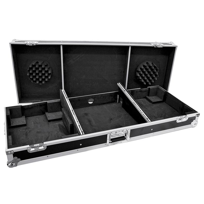 OMNITRONIC Kuljetuslaatikko Console Road Pro kahdelle levysoittimille ja 19
