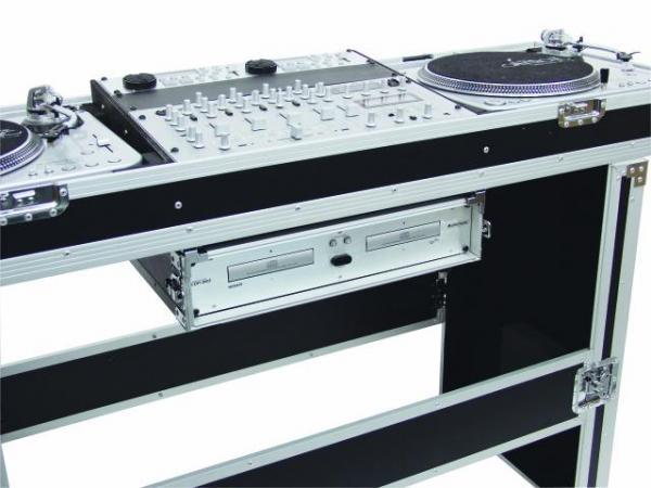 OMNITRONIC Kuljetuslaatikko Console Road Case kahdelle levysoittimille ja 19