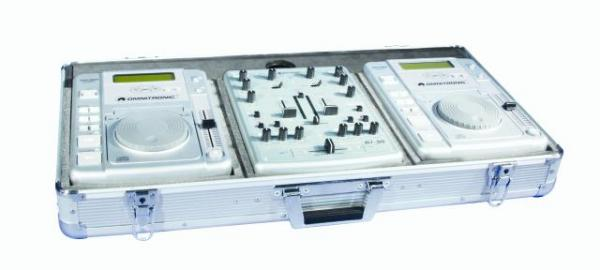 OMNITRONIC Kuljetuslaatikko 2:lle CD-soittimelle ja mikserille. Console DIGITAL DJ silver. For two top-loading DJ CD players and a DJ mixer