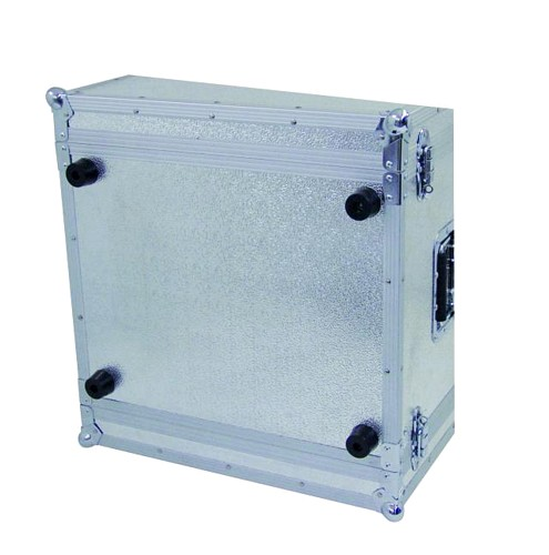 OMNITRONIC Efektiräkki. Effect rack CO DD, 2U, 36cm deep, silver. Professional flight case for 483 mm units (19