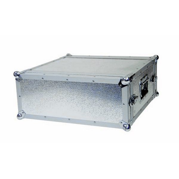 OMNITRONIC Efektiräkki. Effect rack CO DD, 4U, 38cm deep, alu. Professional flight case for 483 mm units (19