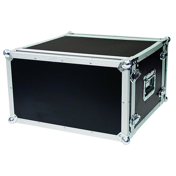 OMNITRONIC Efektiräkki 6U korkea sekä 38cm syvä. Effect rack CO DD, 6U, 38cm deep, black. Professional flight case for 483 mm units (19