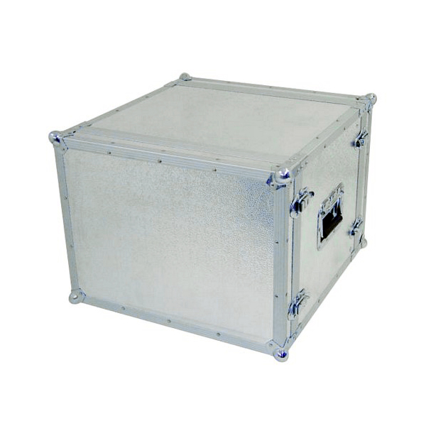OMNITRONIC Efektiräkki. Effect rack CO DD, 8U, 38cm deep, alu. Professional flight case for 483 mm units (19