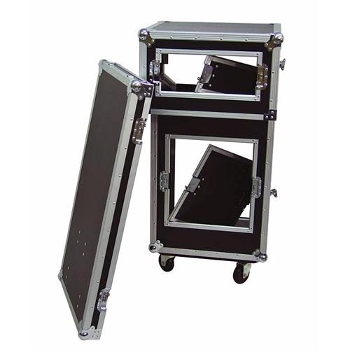 ROADINGER Kuljetuslaatikko pyörillä, Special Stage Case Pro. Soveltuu täydelliseen DJ-setuppiin, jonka voit helposti siirtää tai ottaa mukaan keikalle. Asennuspaikat tupla CD-soittimelle, 19