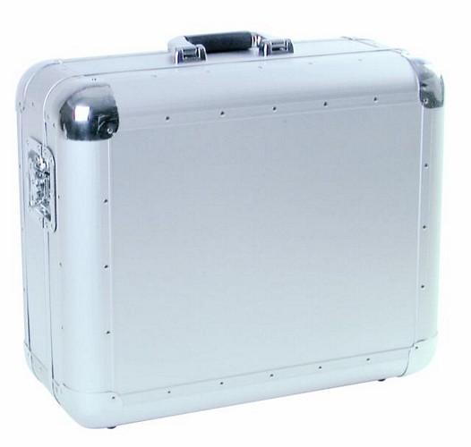 OMNITRONIC Kuljetuslaatikko levysoittimelle alumiini/hopea, kaikille soittimille, jotka alle 450mm leveitä. Turntable case Tour ALU Silver! Professional flight case in aluminum housing for turntables