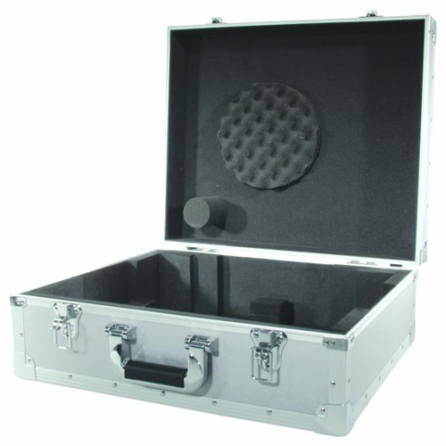 OMNITRONIC Kuljetuslaatikko levysoittimelle, jossa S-mallin äänivarsi, hopea. Turntable case silver -S-. Professional flight case for turntables with S tone arm