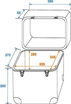 ROADINGER Kuljetuslaukku vinyylilevyille LP- ja maxi, laukkuun mahtuu 80kpl vinyylilevyä, pyöristetyt kulmat, erittäin laadukas lukko, mitat 360 x 295 x 385 mm ja paino 2,8kg.