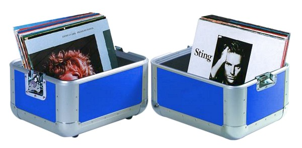 OMNITRONIC Record-case ALU, 50/50, rounded, blue