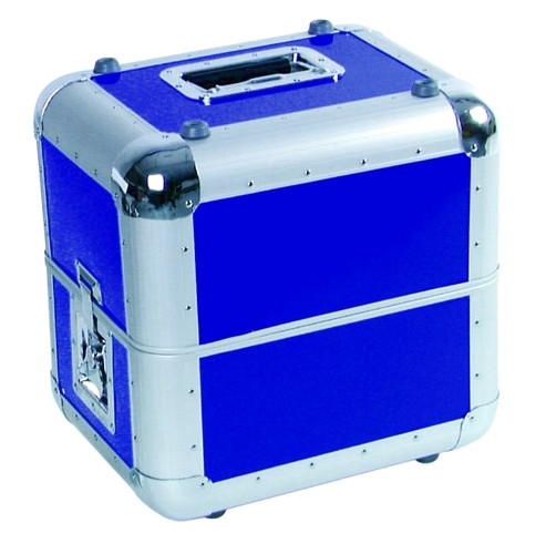 OMNITRONIC Record-case ALU, 50/50, rounded, blue