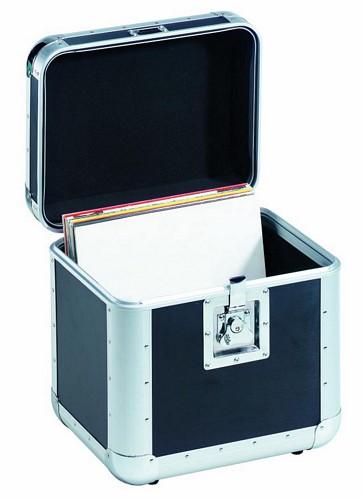 OMNITRONIC Levy case laatikko vinyylilevyyille 75kpl Record-case round corners. Tyylikäs kuljetuslaatikko kantokahvalla. Ulkomitat 380 x 315 x 400 mm paino 4,0kg.